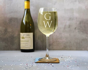 Personalised Monogram Wine Glass