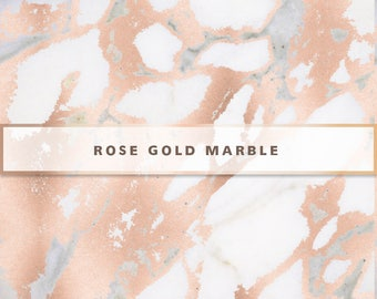 Rose Gold Marble Digital Paper, Rose Gold Digital Paper, Rose Gold Marble Texture, Digital Paper Pack, Rose Gold Marble Background, Marble