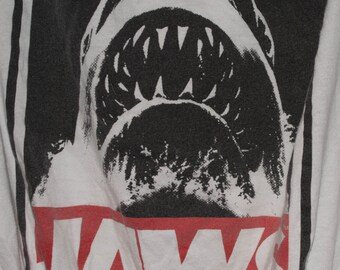 JAWS! Tote Bag, Reusable, Up Cycled, Book Bag, Shoulder Bag