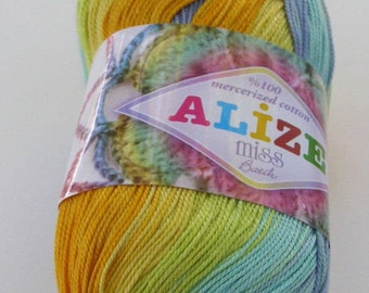 Alize Miss Batik crochet thread size 10, 100% mercerized cotton, #3716