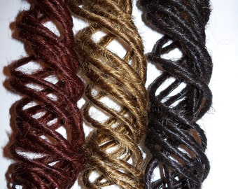 80 Curly or Wavy Synthetic Dreads Dreadlock Hair Extensions or Dread Falls