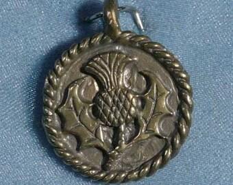 Thistle Bronze Pendant Charm