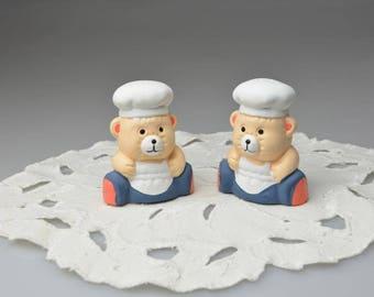 Vintage Ceramic Bear Salt  & Pepper Shakers Bear Salt Shaker Bear Pepper Shaker Kitchen Table Decoration