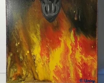 Fluid Painting Dragon's Breath