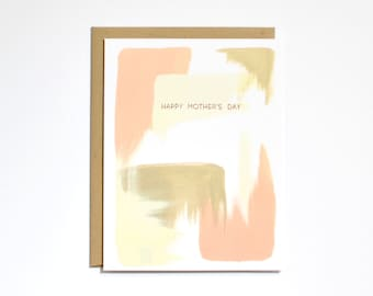 Mother's Day Card - Rose Gold Foil - Abstract - Card for Mom