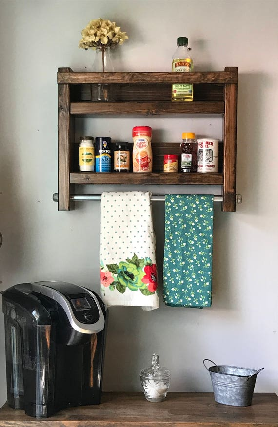 Kitchen, Kitchen Decor, Kitchen Wall Decor, Kitchen Towels Holder, Vintage Kitchen, Kitchen Decor Wall, Rustic Kitchen Shelf, Rustic Kitchen