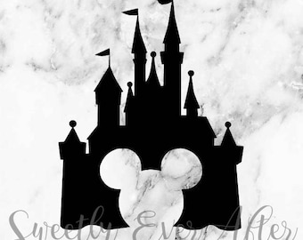 Disney Castle Mickey Mouse Head Decal Sticker - Disney World - Laptop Sticker - Car Truck Vinyl Decal - Planner Sticker - Birthday Gift