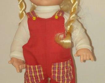 "Blonde Ponytail 12"" Doll"