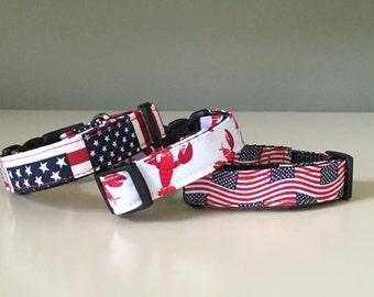 Tiny Dog Collar / Flag - Lobster - Tiny Flags