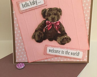 Hello baby... Welcome to the World card