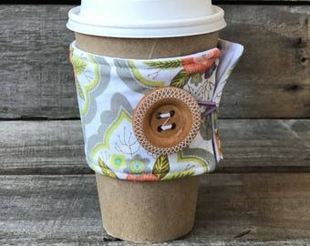 Pastel Boquet Coffee Cozy