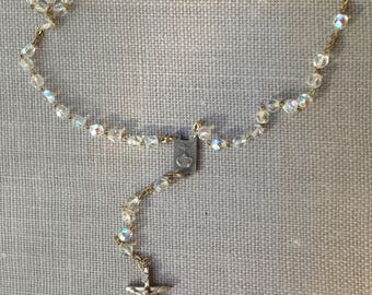Vintage Rosary in a Swarovski Crystal Beads . A beautiful prayer beads.