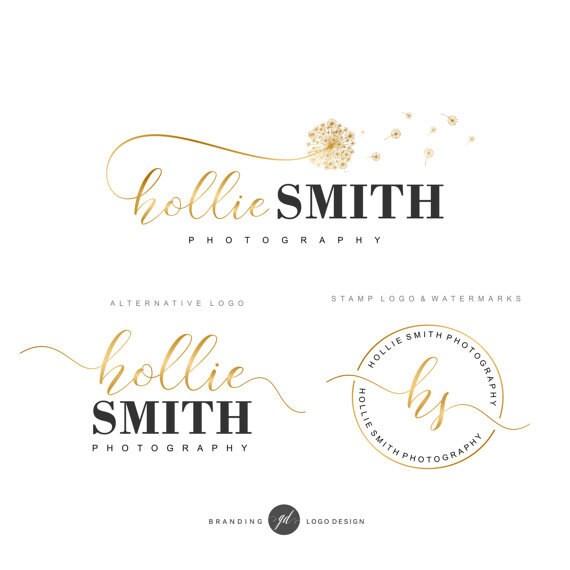 Wedding Branding Ideas: Premade Branding Kit Dandelion Logo Photography Logo Blog