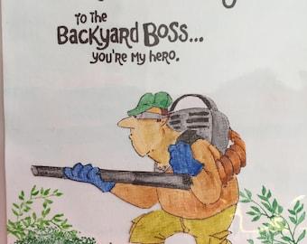 Lawn blower guy.