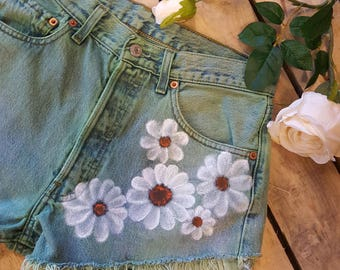 Hand Painted/ Dyed Vintage Levi Shorts