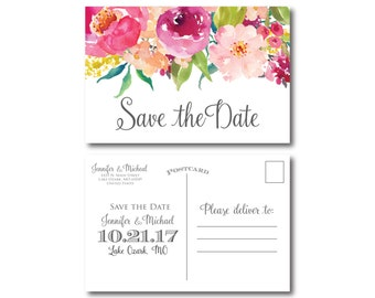 PRINTABLE Save the Date Postcard, Printable Save the Date, Wedding Save the Date, Save-the-Date, Wedding Postcard, Save our Date #CL117