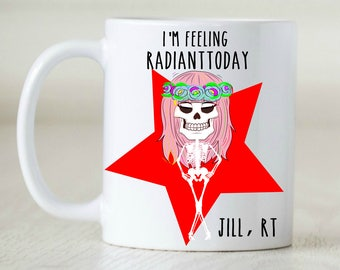 radiology tech rt gift xray technician grad gift for radiologist grad gift for radiology grad rad tech skull mug halloween mug skeleton