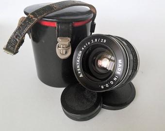 Lens PENTACON Auto (2.8/29) Mount M 42. GDR. Vintage Lens