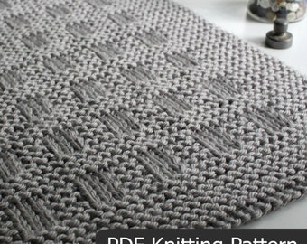 KNITTING PATTERN / Westport Blanket / Throw / Afghan / Knit / Gift / Christmas / Wedding / Baby / Quick / Easy / PDF Instant Download