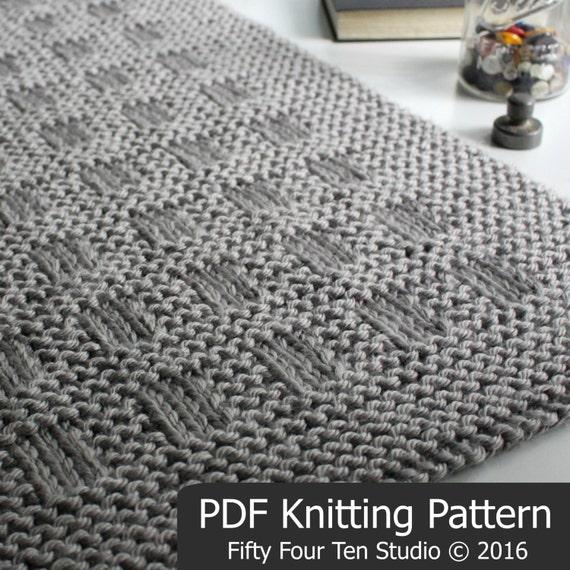 Knitting Pattern Westport Blanket Throw Afghan Knit