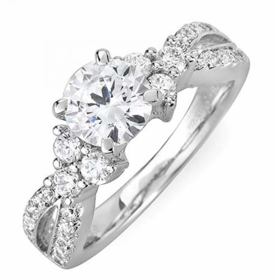 GIA Zertifikat Runde Diamanten Verlobungsring 275 Karat 18k