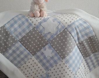 patchwork quilt baby blanket
