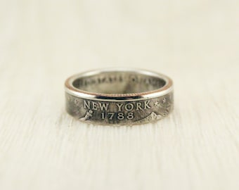 Coin ring (USA) Quarter wiht state