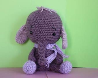 Issy the Elephant- Crochet Amigurumi Toy