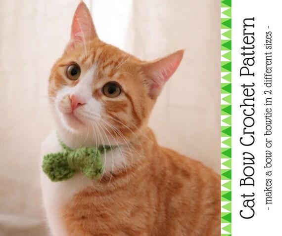 Cat Bow Tie Crochet Pattern Beginner Friendly Crochet Cat