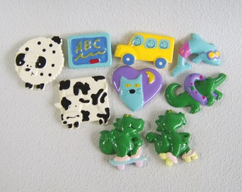 Resin Craft Cabochons Animals Assorted Destash Lot