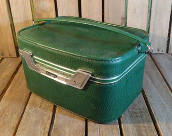 Airway Makeup Box, Small Vintage Suitcase