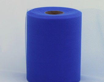 Royal Blue tulle roll - 6 inches - 100 yard - Royal Blue rolls - tulle rolls -blue fabric