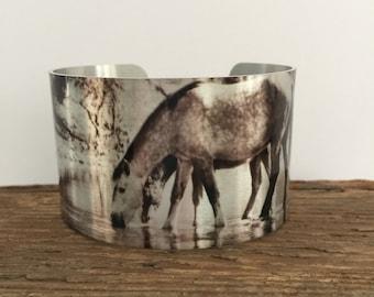 Horse jewelryWild Horse Aluminum Cuff Bracelet.Salt River Wild Horses, AZ.