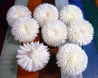 9 Chrysanthemum Sola Wood Diffuser Flowers 8 cm Dia.
