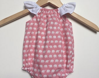 Handmade Baby Girls Romper Playsuit - Sizes 000,00,0, 1