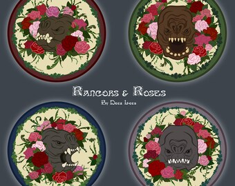 Rancors & Roses Stickers - 4 Pack