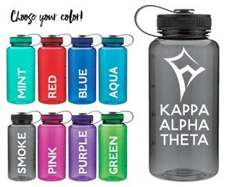 KAO Kappa Alpha Theta Kite Wide Mouth 34 Ounce Sorority Water Sports Bottle