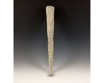 Wall Hanging Ceramic Sculpted Leg - One of a Kind Art Piece by Jenny Mendes