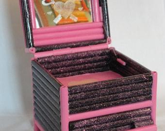 Rolled Paper Keepsake, Trinket or Jewelry Box
