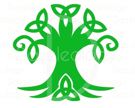 Celtic Tree Design Irish Triad Knot Scottish Mother Nature Trinity