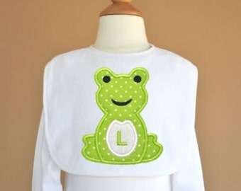 Toadally Awesome Frog Applique Monogram