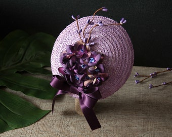 Fascinator Violet, Fascinator Purple, Hair Accessories Violet, Wedding, Guest, Maid of Honor, Mother of the Bride, Gift for Girlfriend, Gift