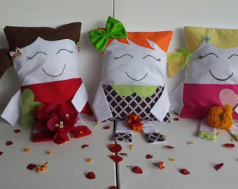 Cute colorful washable baby pillow, 3 designs