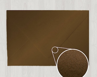 10 A8 Envelopes - Euro Flap - Brown - DIY Invitations - Envelopes for Weddings and Other Events