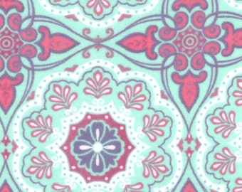 Gypsy Medallion Purple Teal Flannel Fabric by the yard