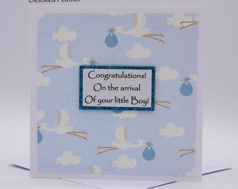 Baby Girl Card, Baby Boy Card, Handmade Baby Card, New Baby Girl Card, Newborn Baby Greeting Card, New Baby Boy Card, Birth Card, New Mum