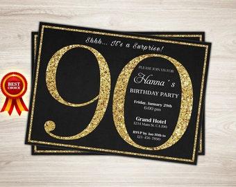 90th birthday invitations templates free