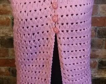 1950s Vintage Jumper / Vest Size Small - Pink