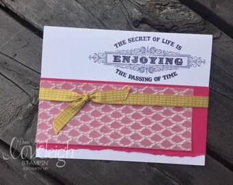 Secret of Life Handmade Card