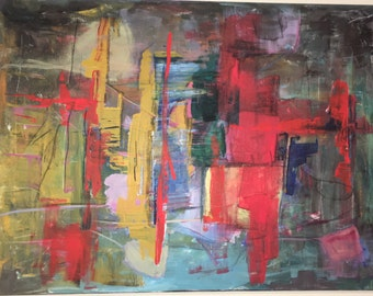 ORIGINAL painting Abstract acrylic 60x80 cm large on canvas